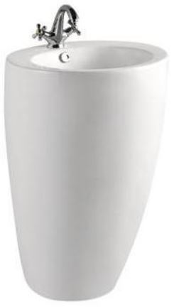 ARINO CB-0001A-WT Back to Wall Pedestal Basin  (40800) *Contact us for best price - Domaco