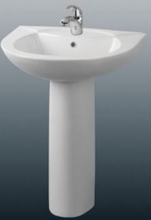 ARINO CB-4008-WT Ceramic Basin with Pedestal (9800) *Contact us for best price - Domaco
