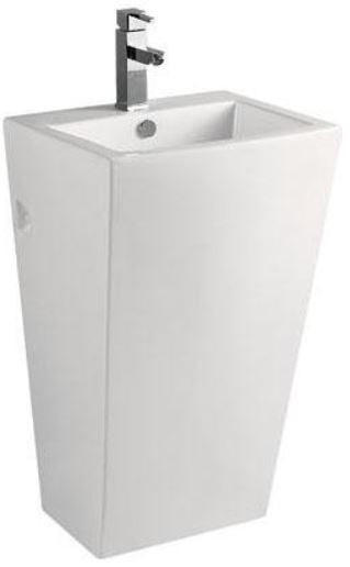 ARINO CB-4109-WT Back to Wall Pedestal Basin  (40800) *Contact us for best price - Domaco