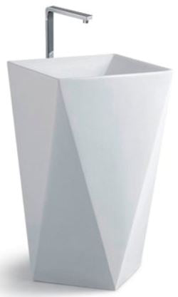 ARINO CB-4114-WT Back to Wall Pedestal Basin (69800) *Contact us for best price - Domaco