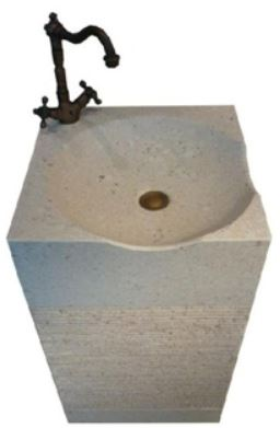 ARINO CM-4128 Culture Marble Full Pedestal Wash Basin (54800) *Contact us for best price - Domaco