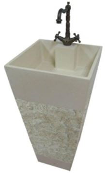 ARINO CM-4131 Culture Marble Full Pedestal Wash Basin (56800) *Contact us for best price - Domaco