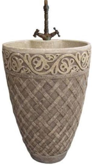 ARINO CM-4133 Culture Marble Full Pedestal Wash Basin (58800) *Contact us for best price - Domaco