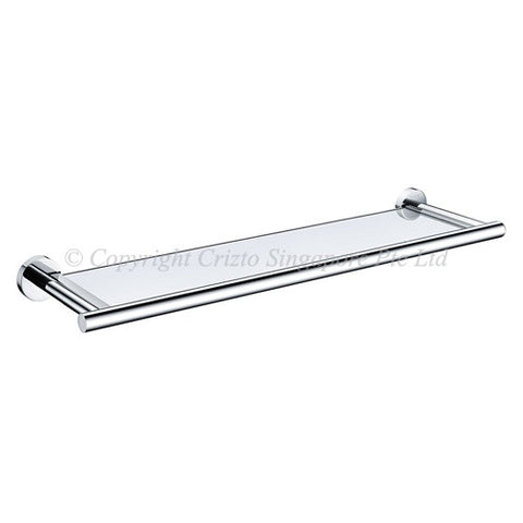 Crizto Olivine Glass Shelf With Skirting / COL-GSS-SS - Domaco