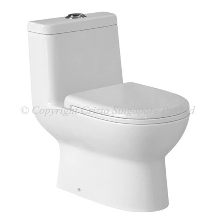 Crizto Ammolite 1-Piece Toilet Bowl CEC-2310-WTP (P-Trap) (31800) *Contact us for best price - Domaco