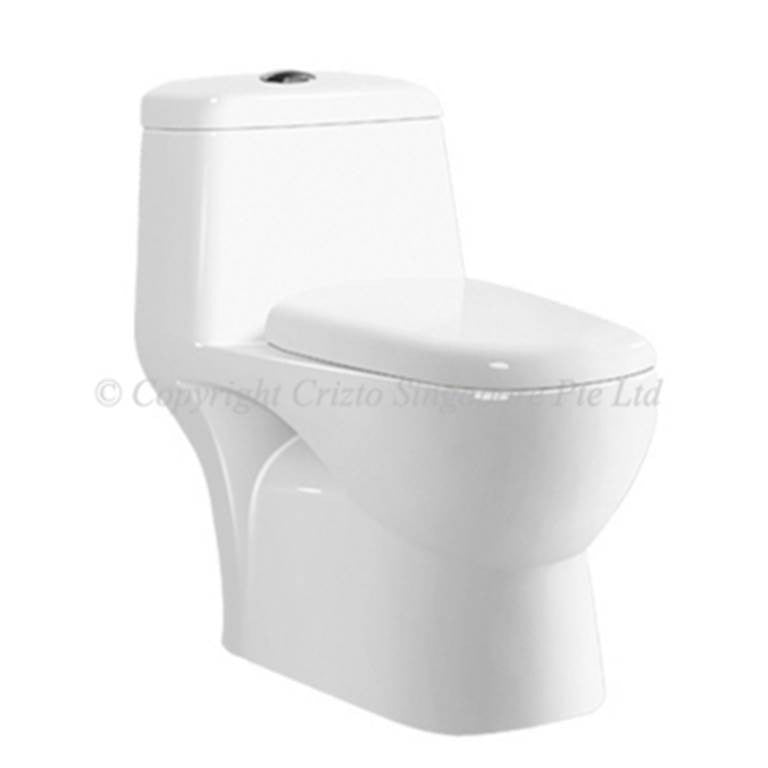 Crizto Yoke 1-Piece Toilet Bowl CWC-2350-WT6/10 (20800) *Contact us for best price - Domaco