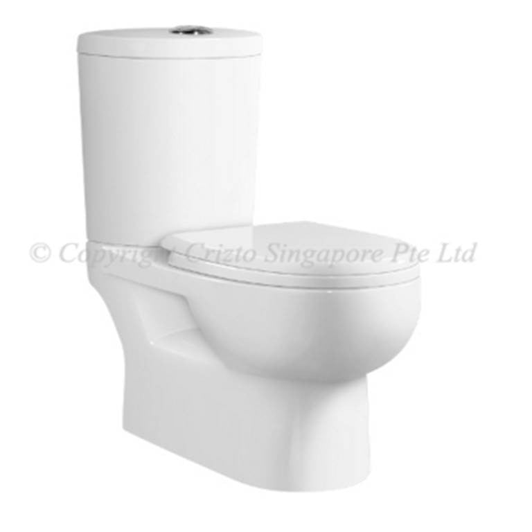 Crizto Classic 2-Piece Toilet Bowl CWC-2815-WT6/10 (18800) *Contact us for best price - Domaco