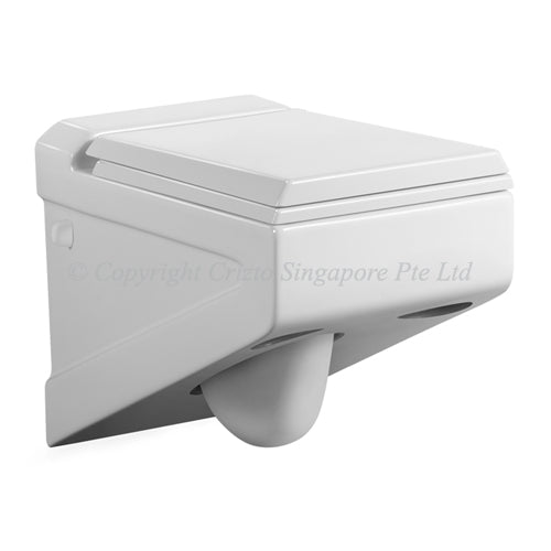 Crizto CWC-WH212-WTP Schorl Wall Hung WC For Concealed Tank - Domaco
