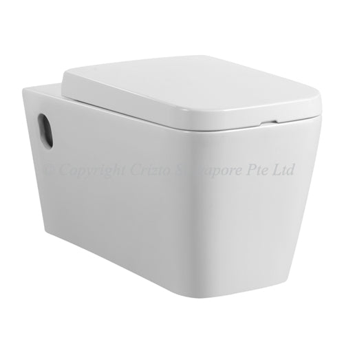 Crizto CWC-WH215-WTP Tektite Wall Hung WC For Concealed Tank - Domaco