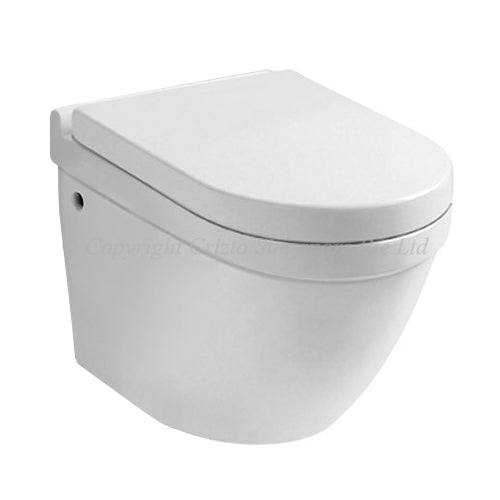 Crizto CWC-WH229-WTP Ulexite Wall Hung WC For Concealed Tank - Domaco