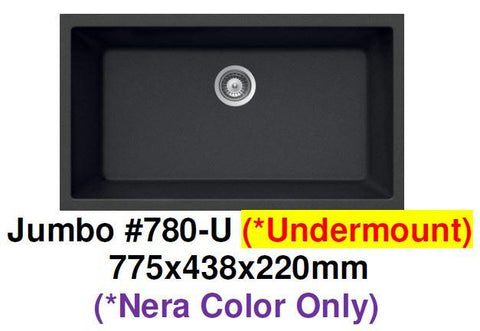 CARYSIL Jumbo #780-U Undermount Granite Kitchen Sink (28000) *Contact us for best price - Domaco