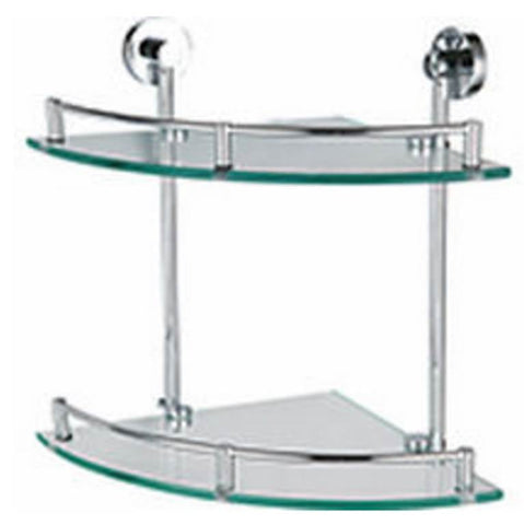 NTL Double Corner Glass Shelf R31017 (7280)<br>*Contact us for best price - Domaco