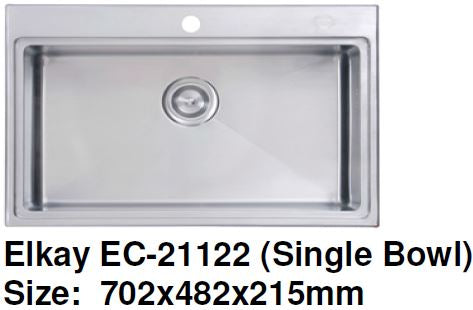 Elkay EC-21122 Stainless Steel Kitchen Sink - Domaco