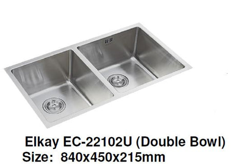 Elkay EC-22102U (Double Bowl) Stainless Steel Kitchen Sink - Domaco