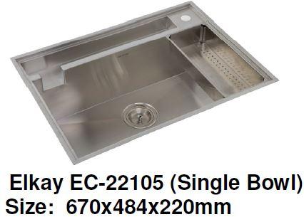 Elkay EC-22105 Stainless Steel Kitchen Sink - Domaco