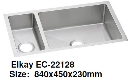 Elkay EC-22128 Stainless Steel Kitchen Sink - Domaco