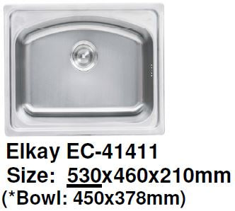 Elkay EC-41411 Stainless Steel Kitchen Sink - Domaco