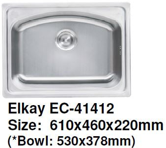 Elkay EC-41412 Stainless Steel Kitchen Sink - Domaco