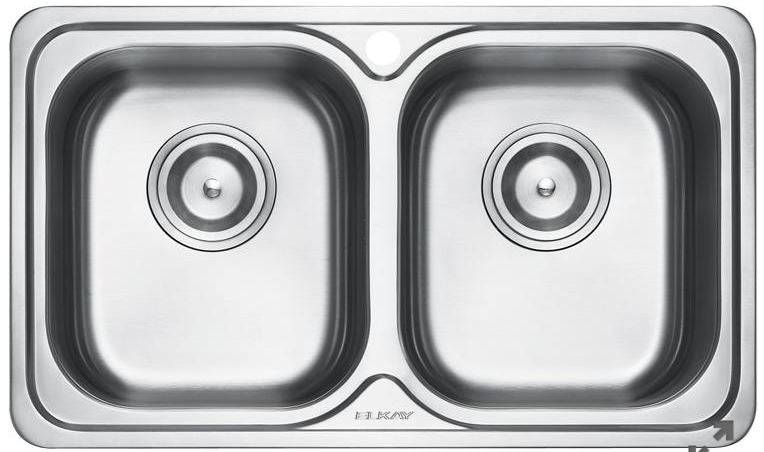 Elkay EC-42105 (Double Bowl) Stainless Steel Kitchen Sink - Domaco