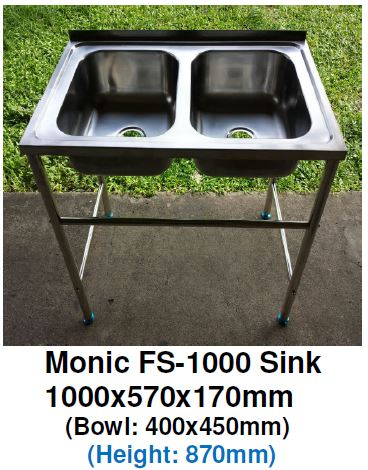 Monic FS-1000 Free-Standing Kitchen Sink - Domaco