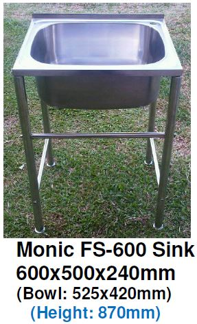 Monic FS-600 Free-Standing Kitchen Sink - Domaco