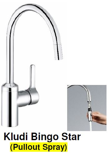 Kludi Bingo Star-S (Pull-out Spray) Kitchen Sink Mixer Tap (35800) <br>MADE IN GERMANY *Contact us for best price - Domaco