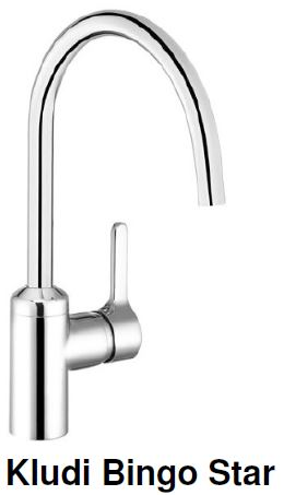 Kludi Bingo Star Kitchen Sink Mixer Tap (22800)<br>*Contact us for best price - Domaco