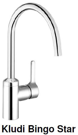 Kludi Bingo Star Kitchen Sink Mixer Tap (22800)<br> MADE IN GERMANY *Contact us for best price - Domaco