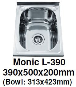 Monic L-390 Wallmount Kitchen Sink - Domaco