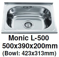 Monic L-500 Wallmount Kitchen Sink - Domaco