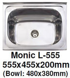 Monic L-555 Wallmount Kitchen Sink - Domaco