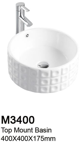 TIARA M3400 BASIN - Top Mount (10800) *Contact us for best price - Domaco