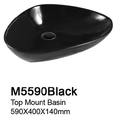 TIARA M5590 BLACK BASIN - Top Mount (13800)<br>*Contact us for best price - Domaco