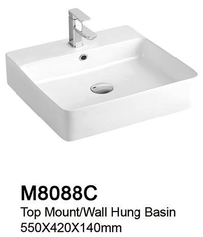TIARA M8088C BASIN  (15800) *Contact us for best price - Domaco