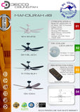 DECCO MANDURAH 48 INCH CEILING FAN + REMOTE CONTROL + LED RGB 18W (25800)<br>*Contact us for best price - Domaco