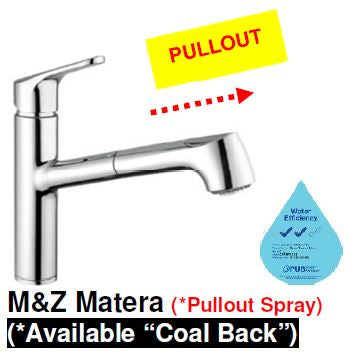 M&Z MATERA SHOWER Sink Mixer with Pull-Out Handspray <br>MADE IN ITALY *Contact us for best price - Domaco