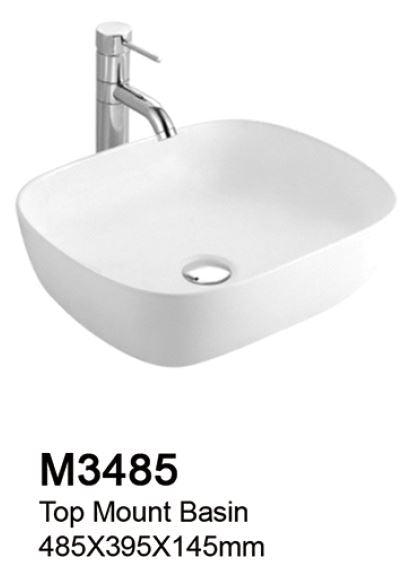 TIARA M3485 BASIN - Top Mount (9800) *Contact us for best price - Domaco