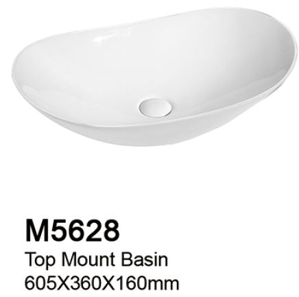 TIARA M5628 BASIN - Top Mount (208000) *Contact us for best price - Domaco