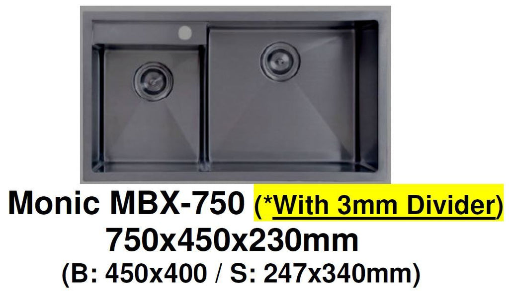 Monic MBX-750 Black Kitchen Sink (58800)<br>*Contact us for best price - Domaco