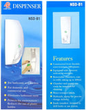 NSDB1 Soap Dispenser-1 Compartment 400ml - Domaco