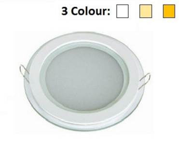 3 Colour LED Glass DownLight Round 12W - Domaco