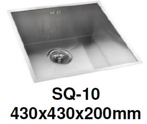 ENGLEFIELD-SQ-10-1.2mm Handmade S/Steel Undermount Kitchen Sink - Domaco
