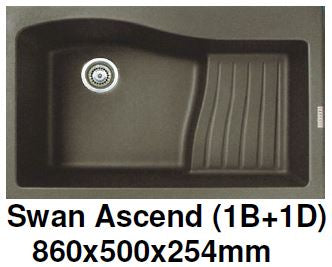CARYSIL Swan Ascend (1B +1D) Granite Kitchen Sink (32600) *Contact us for best price - Domaco