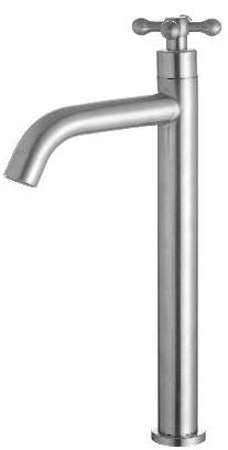 ARINO T-10194LSS TALL CROSS HANDLE BASIN PILLAR TAP - Domaco