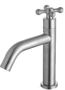 ARINO T-10194SS CROSS HANDLE BASIN PILLAR TAP - Domaco