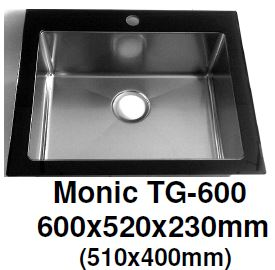 Monic TG-600 & TG-860 Tempered Glass Kitchen Sink - Domaco