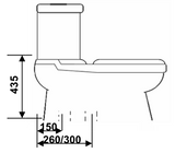 Baron 2-Piece Toilet Bowl W-203A (10800)<br>*Contact us for best price - Domaco