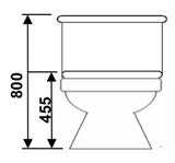 Baron W203A 2-Piece Toilet Bowl  (10800)<br>*Contact us for best price - Domaco