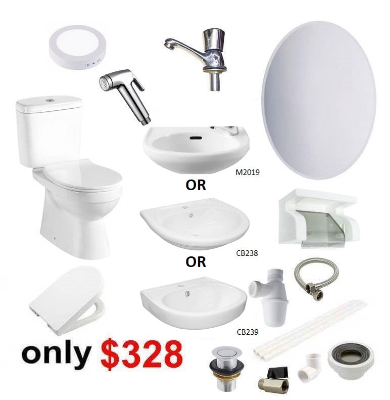 Toilet Revamp Package Toilet Bowl and Basin – Domaco