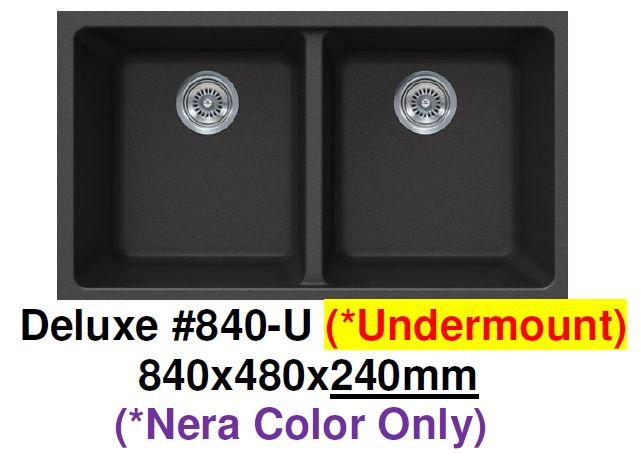CARYSIL Deluxe #840-U Undermount Granite Kitchen Sink (33800) *Contact us for best price - Domaco